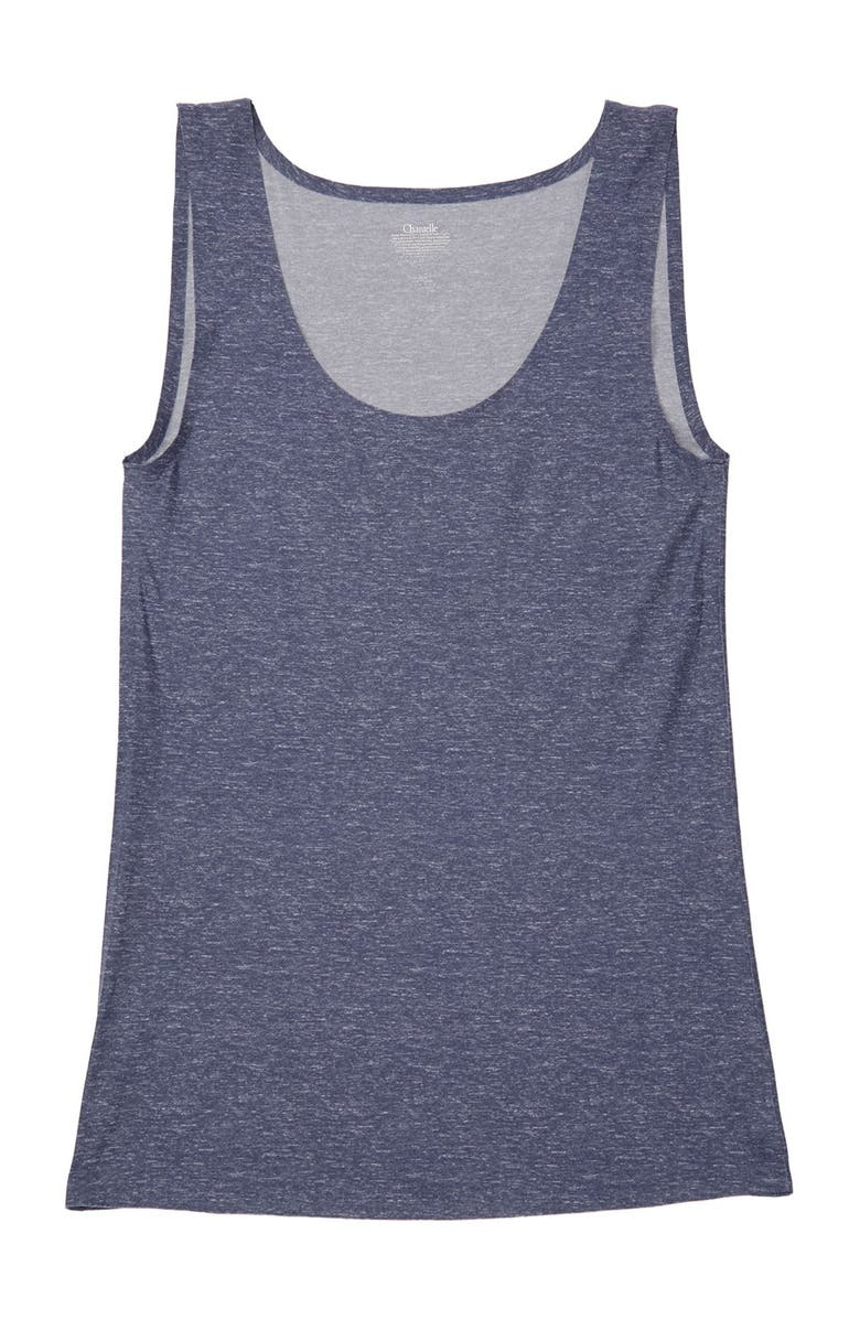 CHANTELLE Soft Stretch Smooth Tank Top, Main, color, HEATHER BLUE