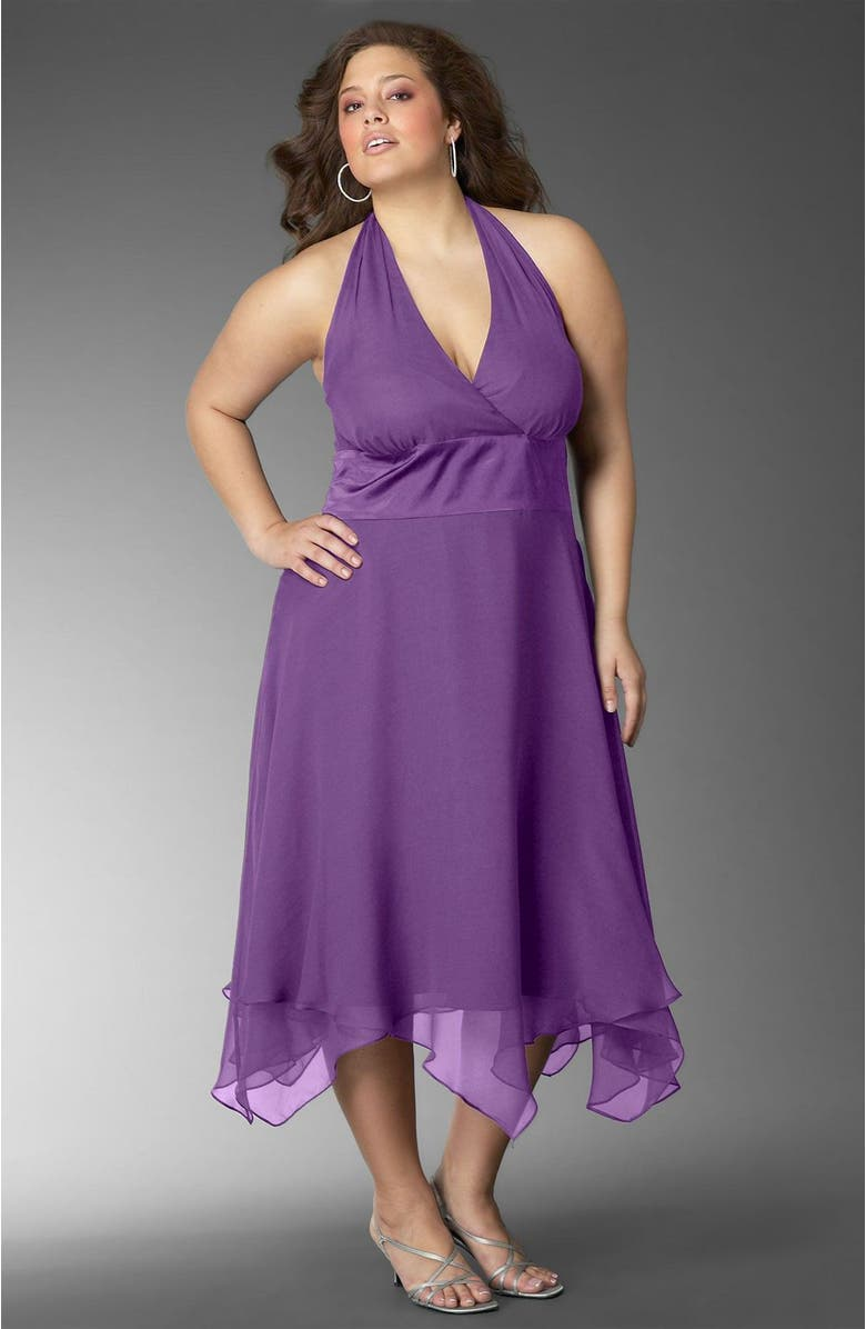 DONNA RICCO Halter Dress, Main, color, 975