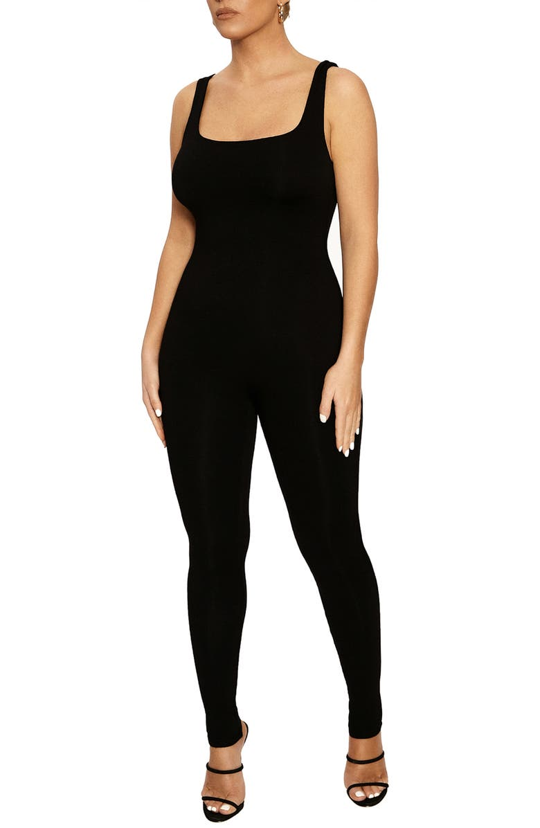 NAKED WARDROBE The NW Jumpsuit, Main, color, BLACK