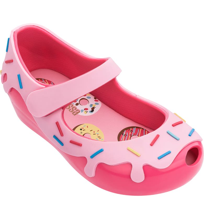 MINI MELISSA Ultragirl Donut Mary Jane Flat, Main, color, PINK