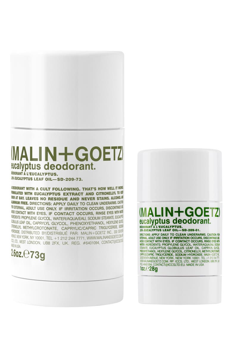 MALIN+GOETZ Eucalyptus Deodorant Duo, Main, color, NO COLOR