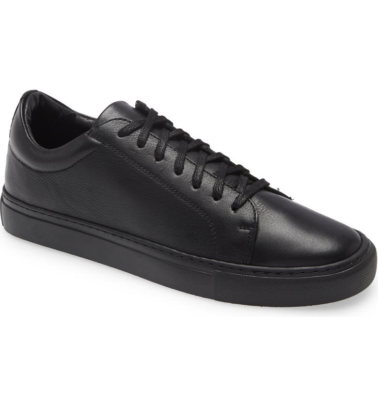 SUPPLY LAB Damian Low Top Sneaker, Main, color, BLACK LEATHER/ BLACK