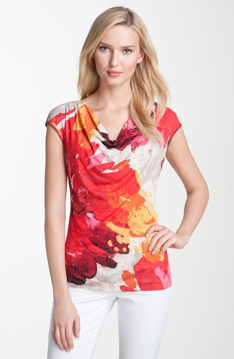 NIC+ZOE Nic + Zoe 'Floral Splash' Print Top, Main, color, 600