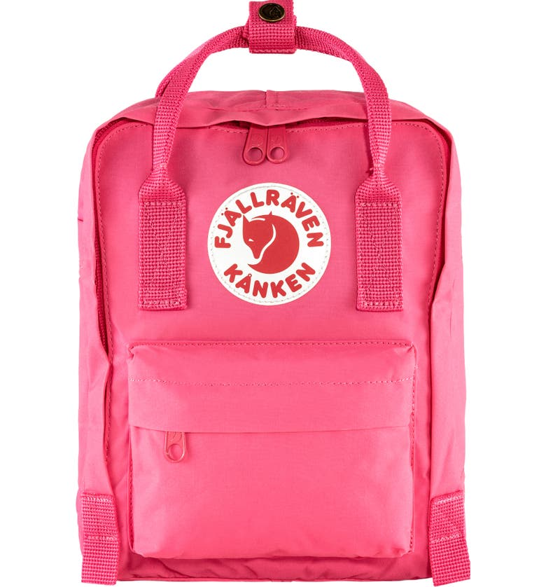 FJÄLLRÄVEN Mini Kånken Water Resistant Backpack, Main, color, FLAMINGO PINK