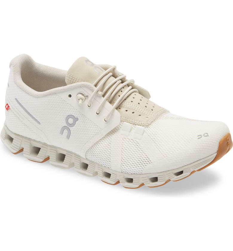 ON Cloud Running Shoe, Main, color, WHITE/ SAND
