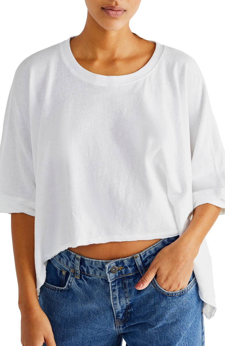 FREE PEOPLE We the Free Crop Top, Main, color, WHITE