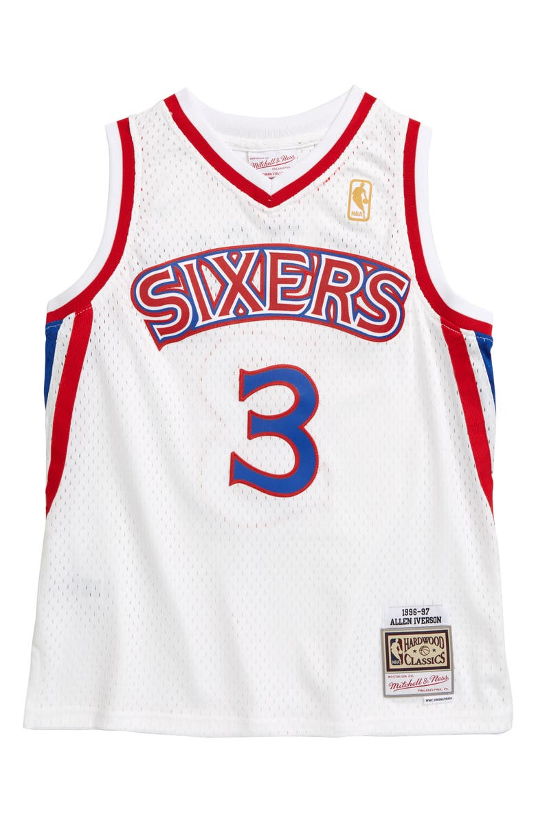 MITCHELL & NESS Swingman Philadelphia 76ers Allen Iverso Basketball Jersey, Main, color, 100