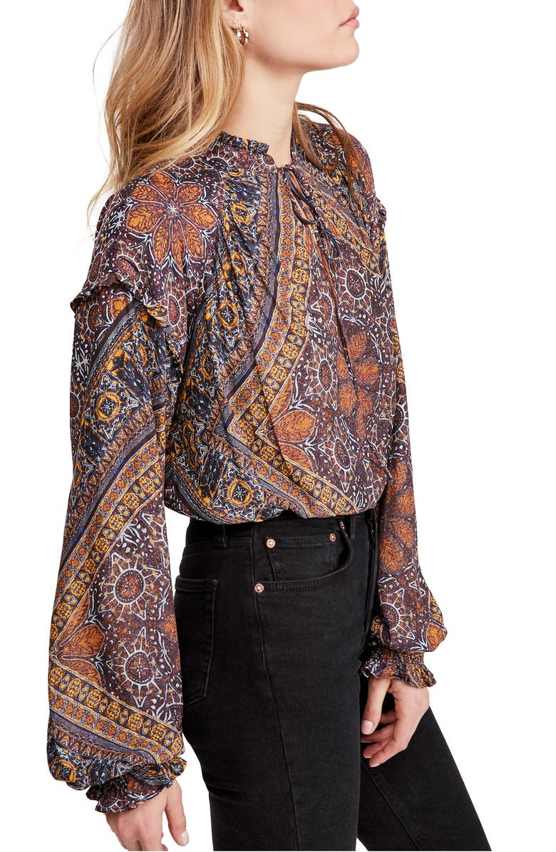 FREE PEOPLE Little Runaway Blouse, Main, color, 419