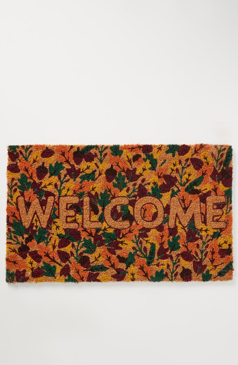 ANTHROPOLOGIE HOME Fall Welcome Doormat, Main, color, 200