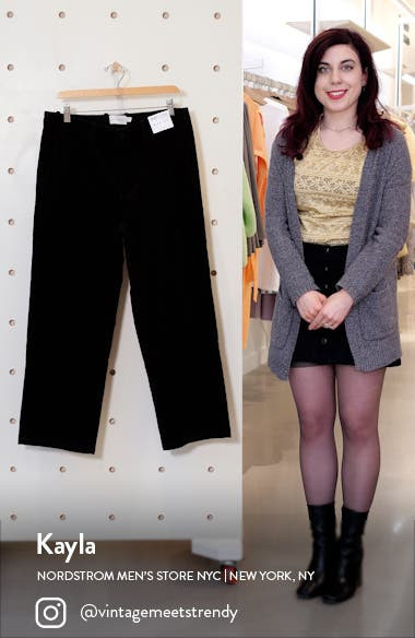 Wide Leg Corduroy Trousers, sales video thumbnail