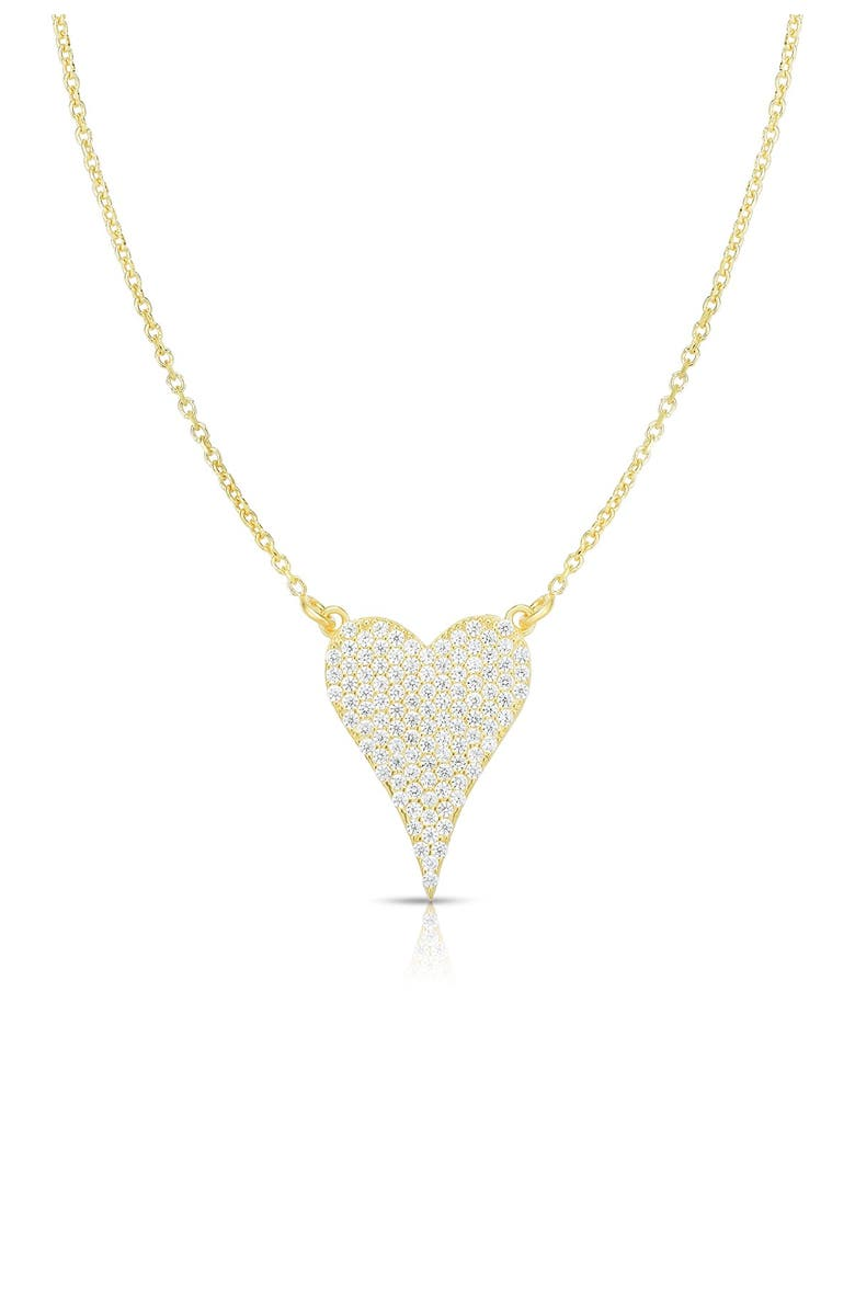 SPHERA MILANO Gold Vermeil Heart Necklace, Main, color, YELLOW GOLD