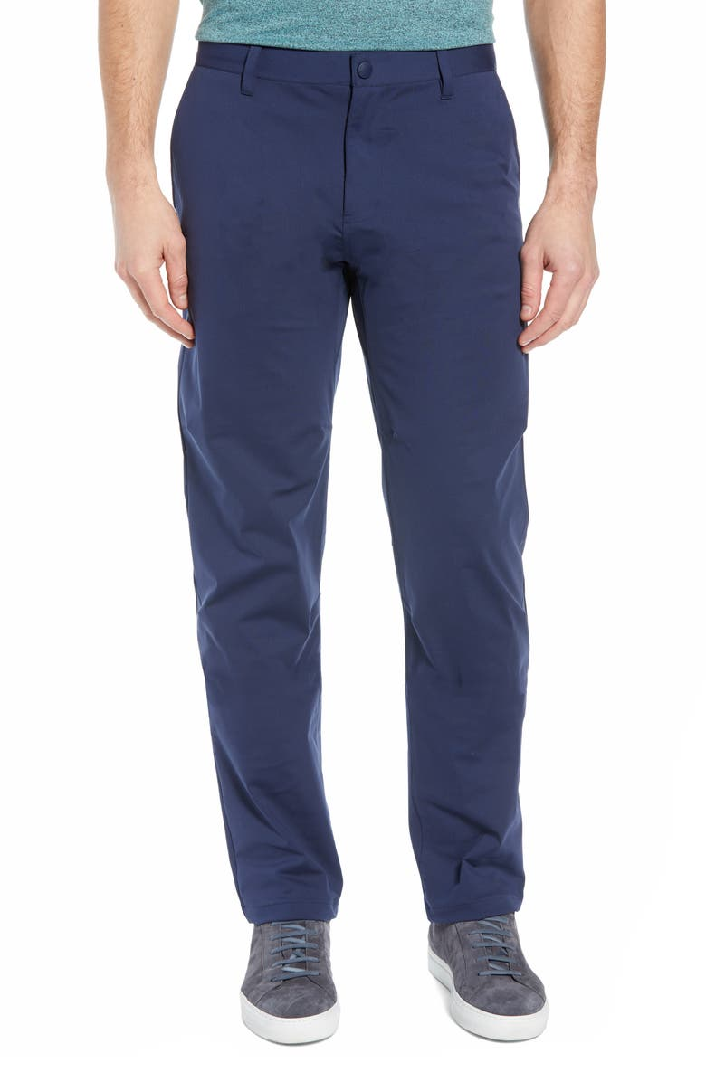 RHONE Commuter Straight Fit Pants, Main, color, NAVY