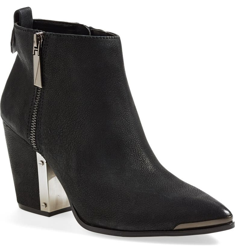 VINCE CAMUTO 'Amori' Pointy Toe Leather Bootie, Main, color, 003