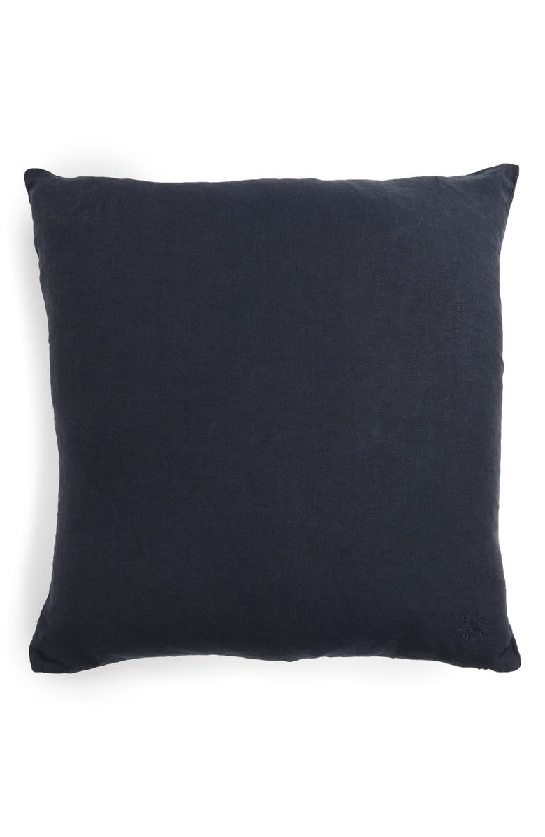 HAWKINS NEW YORK Simple Linen Accent Pillow, Main, color, NAVY