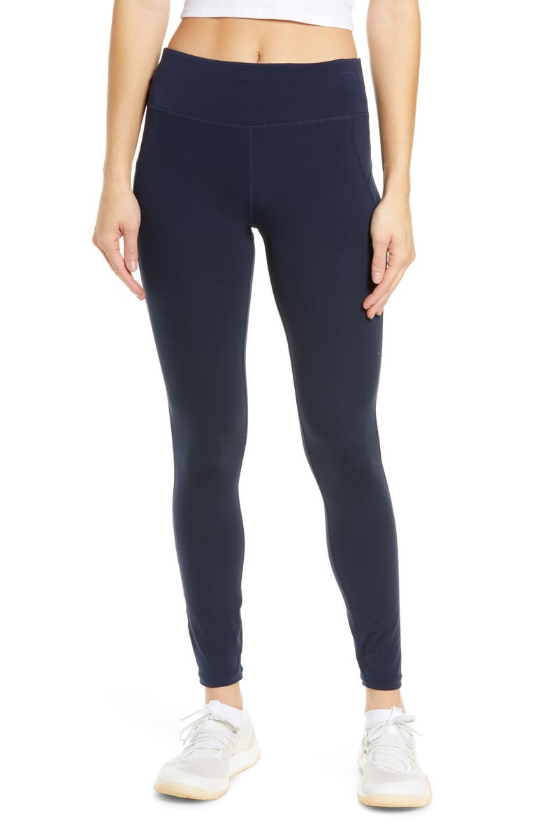SWEATY BETTY All Day Leggings, Main, color, NAVY BLUE
