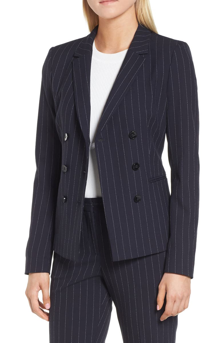 BOSS Jelaya Double Breasted Suit Jacket, Main, color, 461