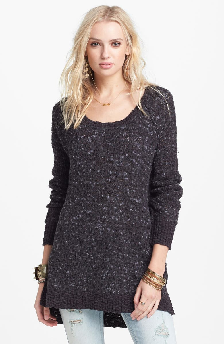 FREE PEOPLE 'Po Jeepster' High/Low Sweater, Main, color, 001