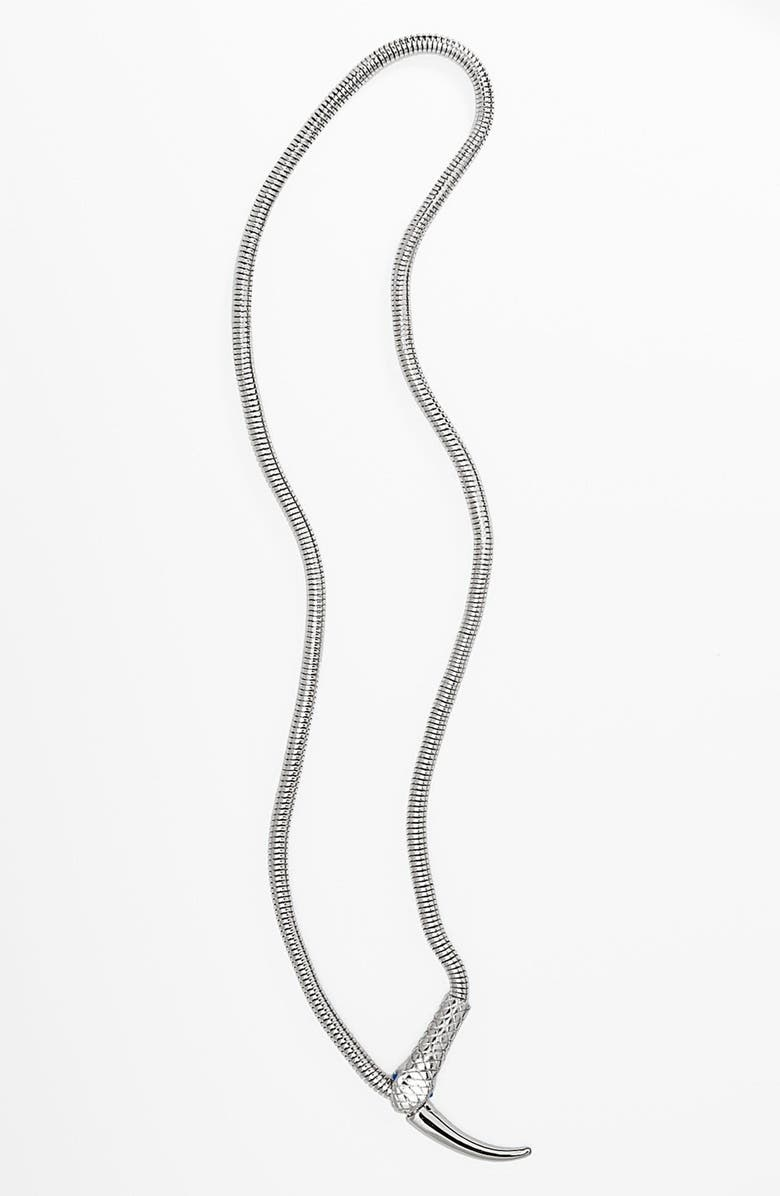 METAL HAVEN BY KENDALL & KYLIE Metal Haven by KENDALL + KYLIE Snake Lariat Necklace, Main, color, 040