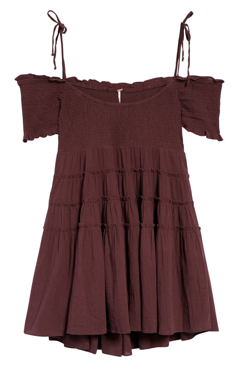 FREE PEOPLE Happy with You Cold Shoulder Minidress, Main, color, THUNDERCLAP