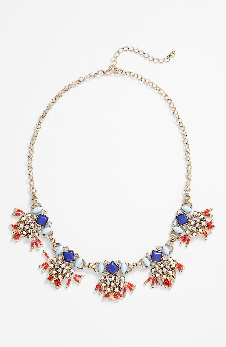 BP. Fringed Statement Necklace, Main, color, 960