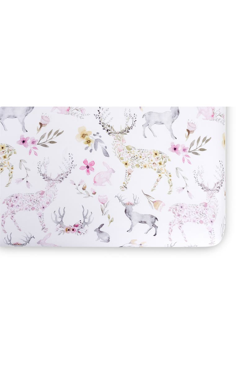 OILO Fitted Crib Sheet, Main, color, BLUSH FAWN