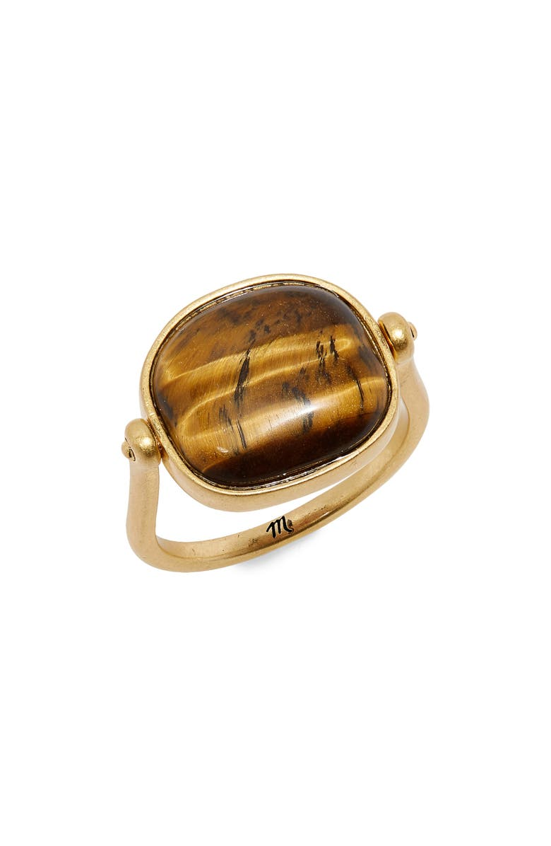MADEWELL Tiger's Eye Swivel Ring, Main, color, 710