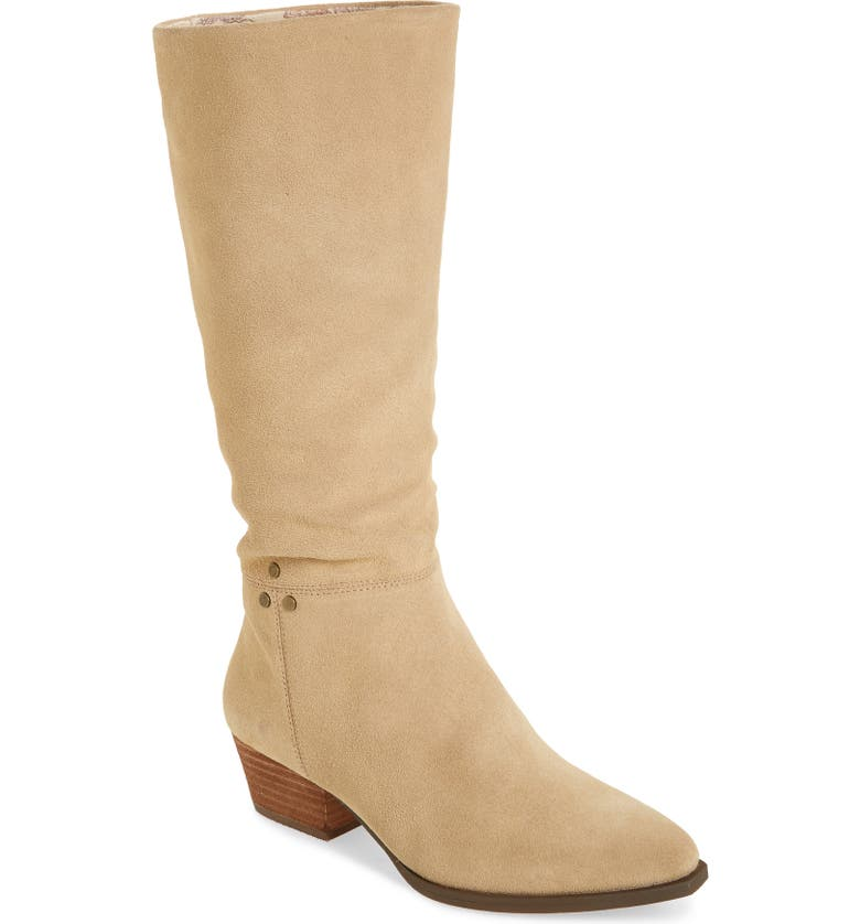 BAND OF GYPSIES Larkspur Knee High Boot, Main, color, NATURAL SUEDE