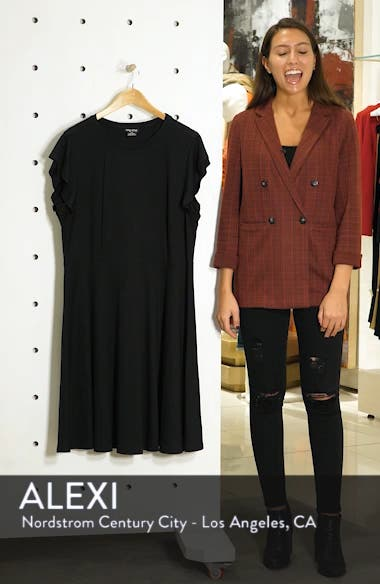 Frill Sleeve Fit & Flare Dress, sales video thumbnail