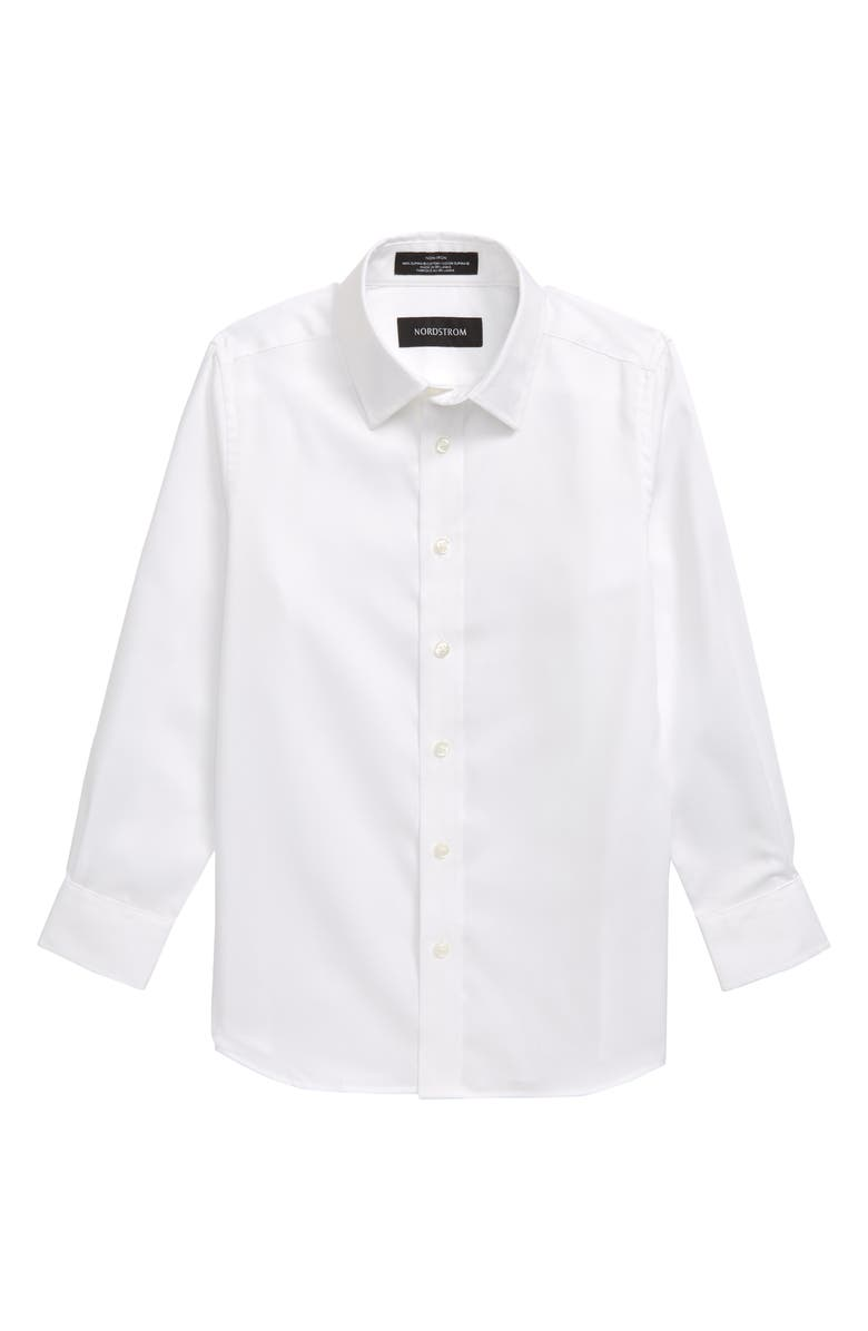 NORDSTROM Solid Dress Shirt, Main, color, WHITE