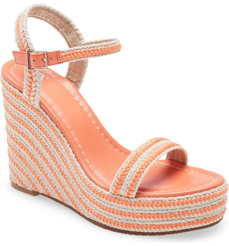 BP. Giana Platform Wedge Sandal, Main, color, CORAL CAMELIA