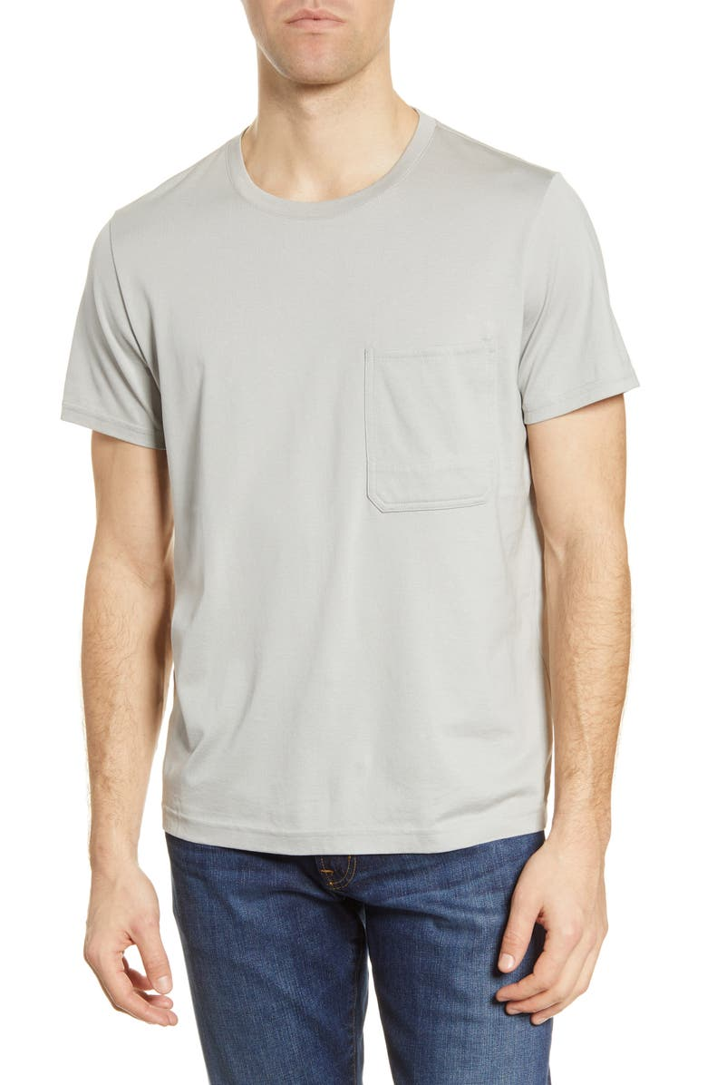 7 FOR ALL MANKIND<SUP>®</SUP> Mitered Pocket T-Shirt, Main, color, 020