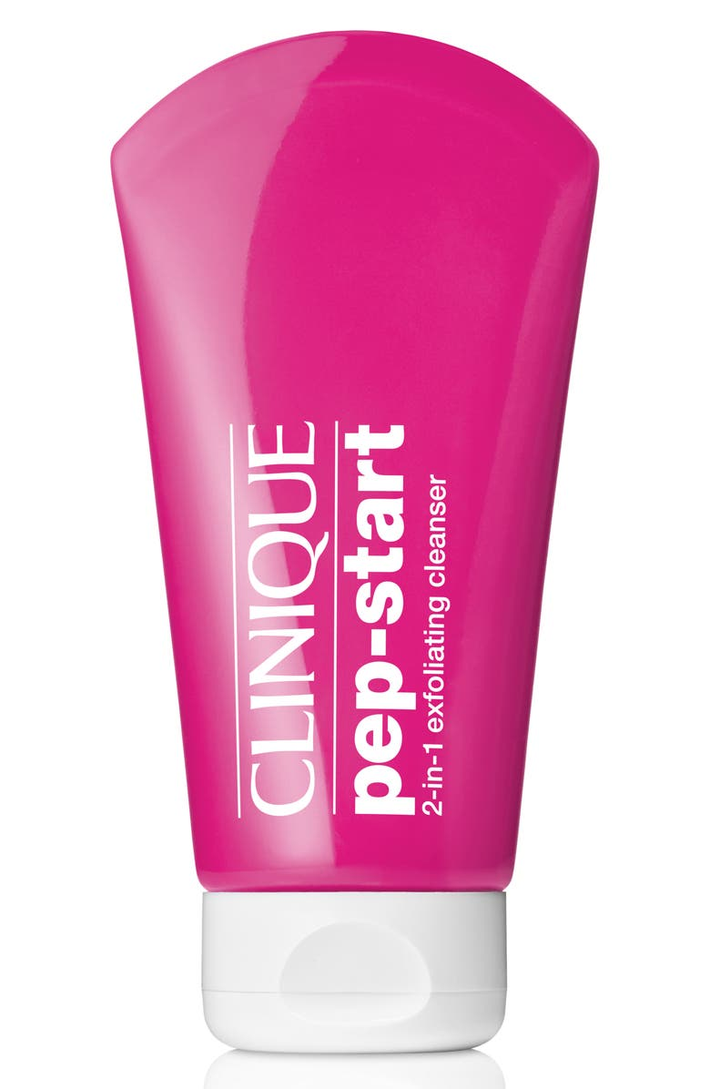 CLINIQUE Pep-Start 2-in-1 Exfoliating Cleanser, Main, color, 000