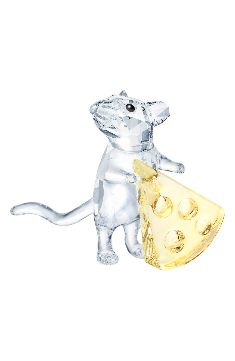 SWAROVSKI Mouse with Cheese Crystal Figurine, Main, color, 100