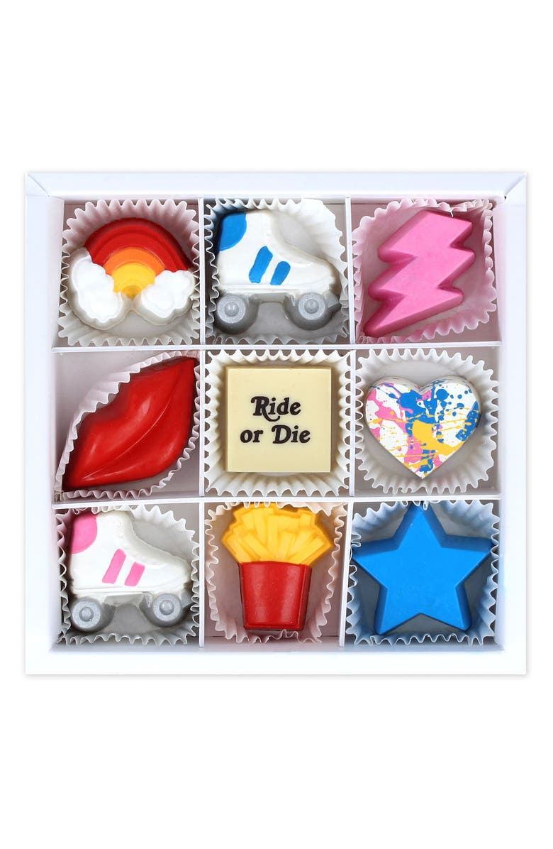 MAGGIE LOUISE CONFECTIONS Ride or Die 9-Piece Chocolate Set, Main, color, 100