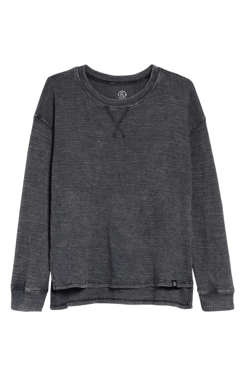 TREASURE & BOND Kids' Thermal Top, Main, color, BLACK RAVEN