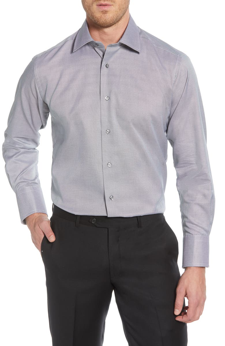 DAVID DONAHUE Regular Fit Solid Dress Shirt, Main, color, 009
