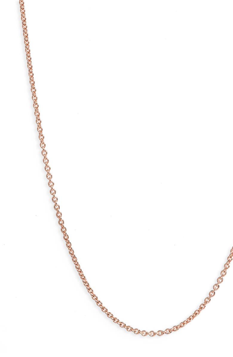 MONICA VINADER 24-Inch Chain, Main, color, ROSE GOLD