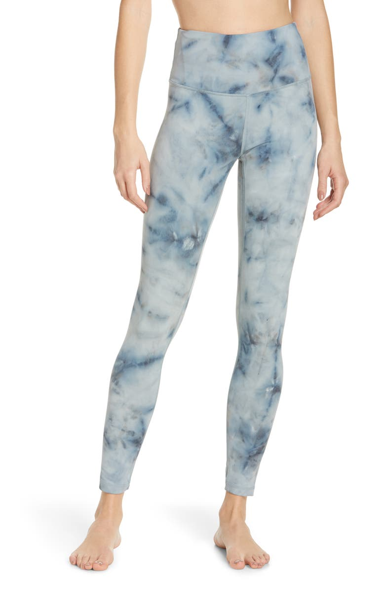 ZELLA Spray Dye High Waist Leggings, Main, color, GREY TRUFFLE