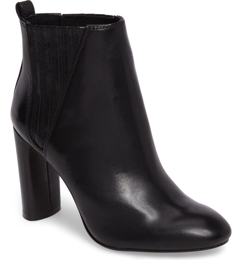 VINCE CAMUTO Fateen Bootie, Main, color, BLACK LEATHER