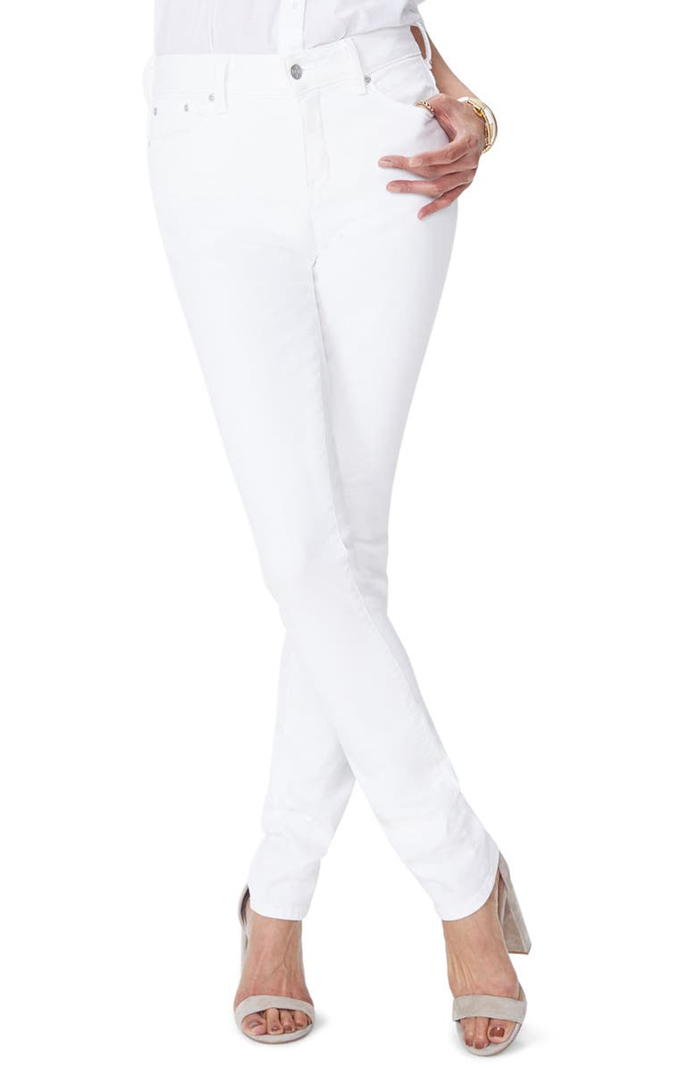 NYDJ Marilyn Stretch Straight Jeans, Main, color, OPTIC WHITE