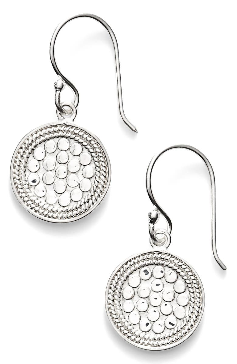 ANNA BECK Small Drop Earrings, Main, color, SILVER