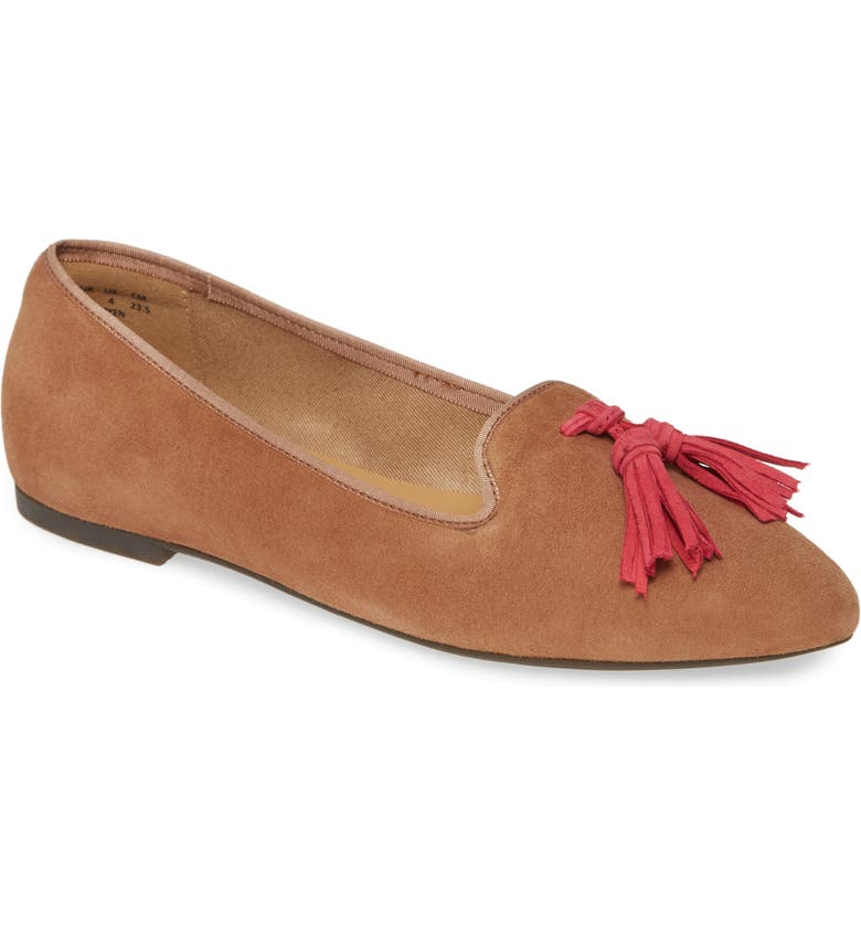HUSH PUPPIES<SUP>®</SUP> Sadie Tassel Loafer, Main, color, TAN SUEDE
