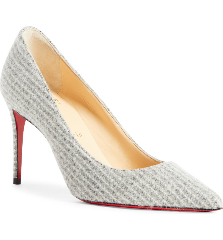 CHRISTIAN LOUBOUTIN Kate Flanelle Pointy Toe Pump, Main, color, 020