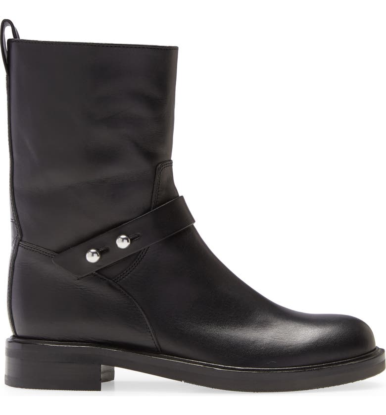 RAG & BONE Slayton Leather Bootie, Main, color, BLACK