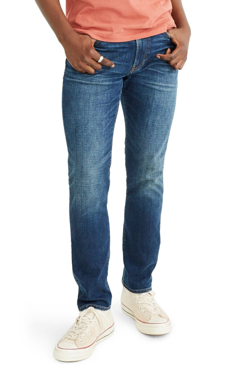 MADEWELL Athletic Slim Everyday Flex Jeans, Main, color, 400