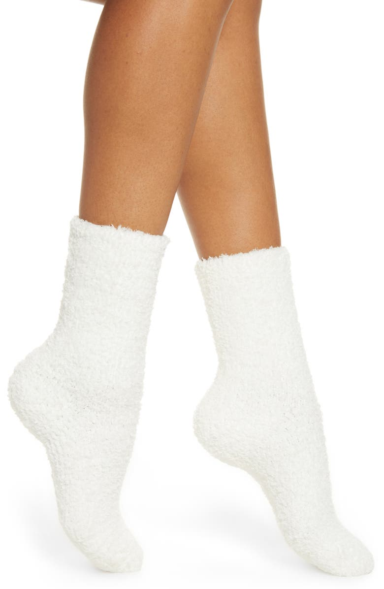 NORDSTROM Butter Crew Socks, Main, color, IVORY EGRET