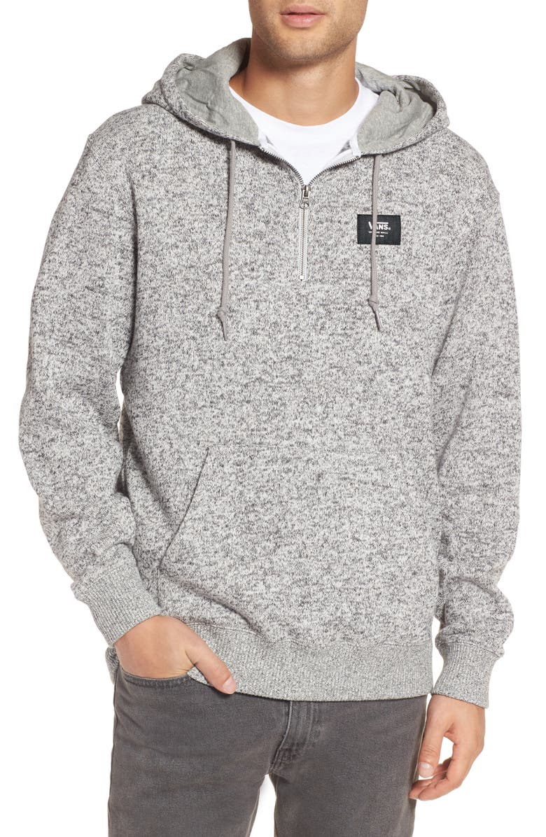 VANS Flurry Half Zip Hoodie, Main, color, LUNAR ROCK HEATHER