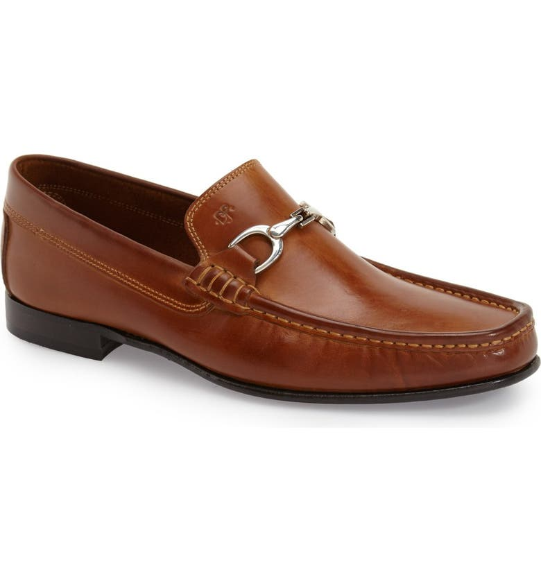 DONALD PLINER Darrin Bit Loafer, Main, color, SADDLE CALFSKIN LEATHER