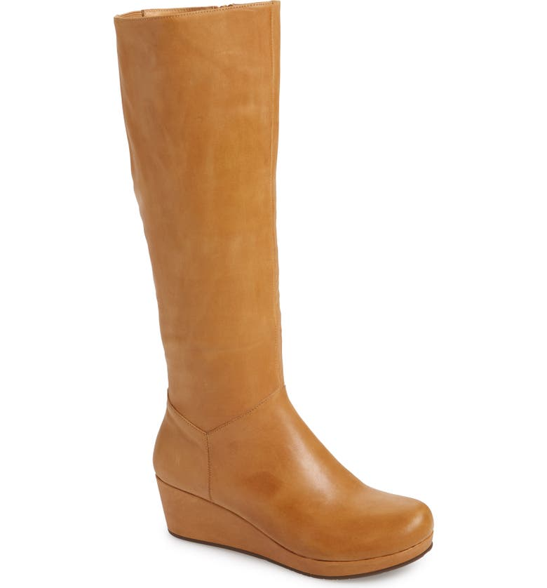 CHOCOLAT BLU Yiga Knee High Wedge Boot, Main, color, DESERT LEATHER
