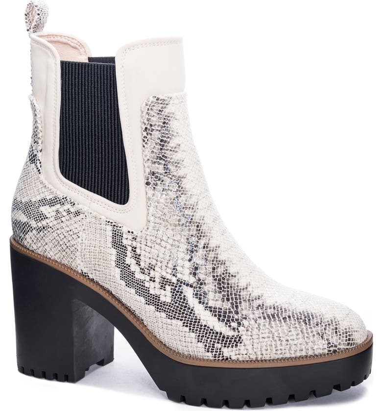 CHINESE LAUNDRY Good Day Chelsea Boot, Main, color, CREAM/ GREY FABRIC
